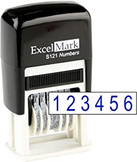 Black RN018 Type Size 1 Traditional 8 Digit Rubber Number Stamp