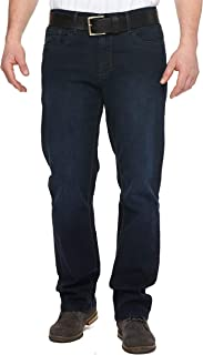 Urban Star Men's Relaxed Fit Straight Leg Jeans (Dark Blue) 36W x 30L