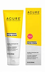 ACURE Brightening Facial Scrub  | 100% Vegan | For A Brighter Appearance | Sea Kelp & French Green C