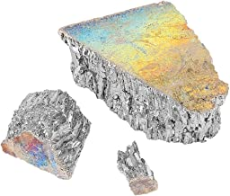 Aeloa Bismuth Ingot- Metal Ingot Chunk 99.99% Pure Crystal Geodes for Making Crystals,Fishing Lures and Art (1000g)
