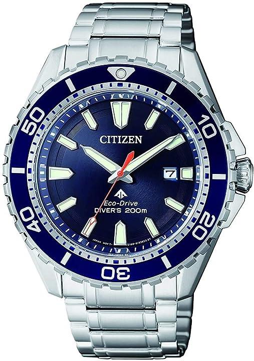 Citizen orologio analogico solare uomo con cinturino in acciaio inox bn0191-80l
