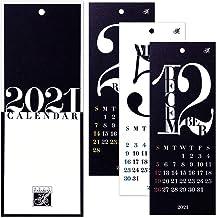 HANABUSA(はなぶさ) 2021 小型壁掛けカレンダー C(レトロ&モダン) モノトーン