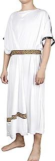 EAWIN Men's Deluxe Classic Toga Costume Set Including Tunic, Belt, and Gold Metal Laurel Wreath Roman God Party Dress
