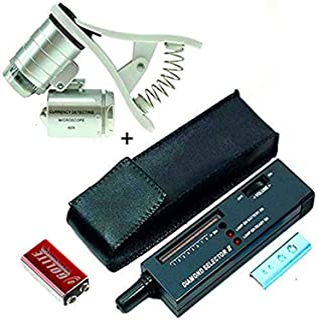 Professional Diamond Selector II, and 60X Clip-On Microscope Magnifier Professional Jeweler Gem Tester Pen Portable Electr...