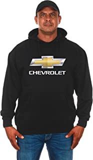 JH DESIGN GROUP Mens Chevy Bow Tie Gold Chrome Logo Pullover Hoodies Black Brown