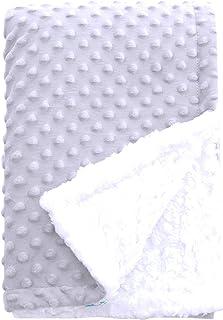 پتوی کودک SWEET DOLPHIN Sherpa Minky برای پاتخت کالسکه گهواره ای ، پتو دریافت نرم و گرم و گرم فازی Unisex برای پسران ، دختران ، کودکان ، کودک نوپا ، نوزاد - خاکستری روشن - 30x40 اینچ