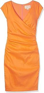 Nicole Miller Women's Beckett Stretch Linen Tuck Dress