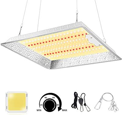 TOLYS LED Grow Light, DW-1000 with Samsung LM281B LEDs, High PPFD Full Spectrum Dimmable Panel LED Growing Lamps for Indoor Plants Seeding Hydroponic Greenhouse, 2x2ft Flower, 2x2ft Veg (304pcs LEDs)