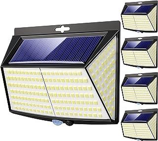 4 Pack Solar Lights Outdoor, 3 Modes/228LED Solar Security Lights Wireless IP65 Waterproof Solar Motion Sensor Lights Sola...
