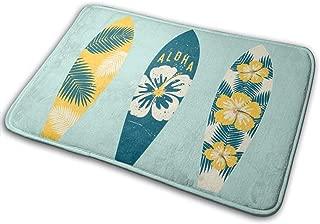 AdaCrazy Las Alfombrillas de ba/ño de Franela de patr/ón de Fondo de Tabla de Surf alfombras de ba/ño evitan el Desplazamiento y el Deslizamiento de la impresi/ón 3D s/úper Absorbente 60x40 cm