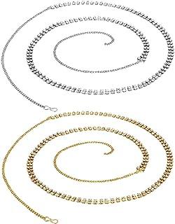 Vama Fashions Multi Colour Stones Designer kamarband Body Belly Chain Fancy Waist Chain for Women