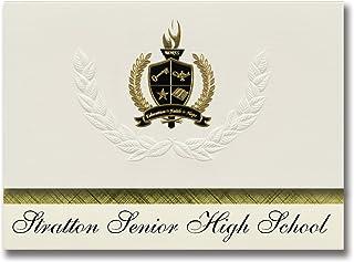 Signature Ankündigungen Stratton Senior High School School School (Stratton, CO) Graduation Ankündigungen, Presidential Stil, Elite Paket 25 Stück mit Gold & Schwarz Metallic Folie Dichtung B078TSW1H3  Einfach 49264a