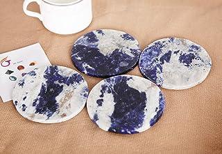 JIC Gem Crystal Coasters Set of 4 Decoration 10cm Blue Sodalite