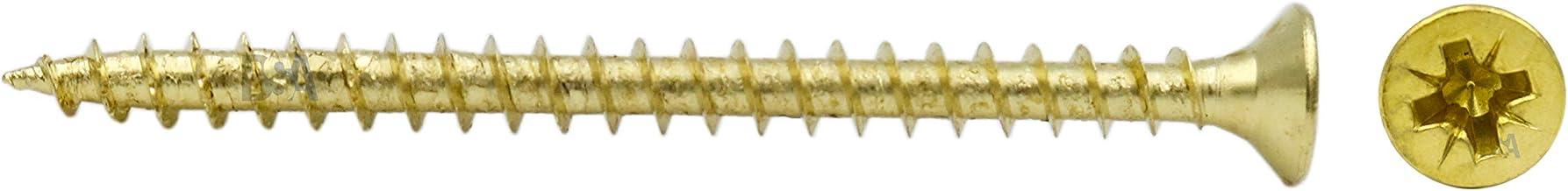 50 tornillos 3 x 50 mm rosca parcial 40 mm IROX acero galvanizado cabeza cruz Pozidriv PZD plana avellanada tornillo para madera y aglomerado 3 x 50 aglomerados