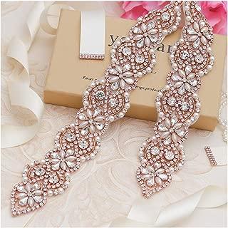 Rhinestone Crystal Pearl Belts Wedding Bridal Belts Bridal Sashes