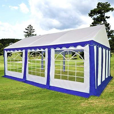 FZYHFA Carpa de Jardín de PVC 3x6 m Azul y Blanco, Carpa para Exterior: Amazon.es: Jardín