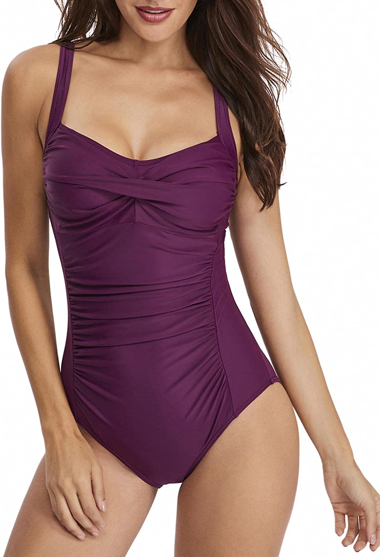 SEMATOMALA Women's Strapless Bandeau Bikini Set 2 Pieces Solid Color High Cut Cheeky High Waist Swimsuit