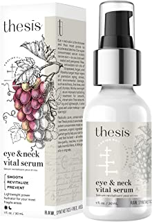 Thesis Organic Eye Serum - Prevent and Smooth Fine Lines, Puffiness, Premature Wrinkles Under and Around Eyes - Raw Argan, Rosehip Rich in Natural Anti Aging Vitamin A,E - Gentle for Fragile Eye Skin