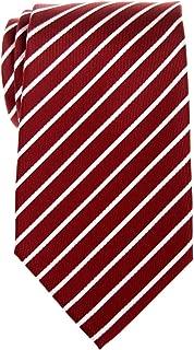 Thin Regimental Striped Woven Microfiber Men's Tie - Various Colors