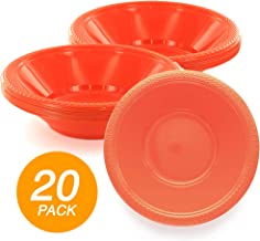 SparkSettings Reusable Plastic Bowls Washable BPA Free Cereal Bowl Perfect for for Salad, Fruit, Dessert, Snack, Small Serving and Mixing Bowls - Orange Peel, Pack of 20
