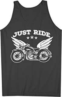 Just Ride Motorcycle Bike Biker 男性用 Tank Top Sleeveless Shirt