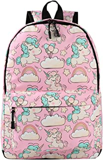 Unicorn School Bag Kids Backpacks with Leash for Girls