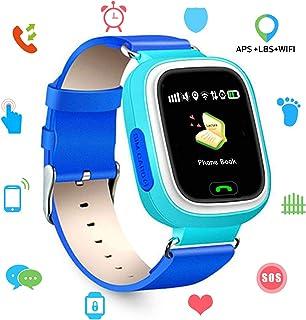 68c1702bc Niños SmartWatch Telefono, GPS LBS WiFi Actividad Tracker Pantalla táctil Inteligente  Relojes con Chat SOS