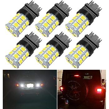 Turn Signal Lights Pack of 10 3156 LED Reverse Tail Lights 900 Lumens 3157 LED Brake Lights Yolu Super Bright 3157 LED Light Bulbs White 3157 LED Backup Reverse Lights
