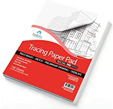 Bellofy Tracing Paper Pad 100 Sheets – Translucent Tracing Paper for Pencil, Marker and Ink - Trace Images, Sketch, Preliminary Drawing, Overlays – 9 x 12 inches, 41 lB / 60 GSM