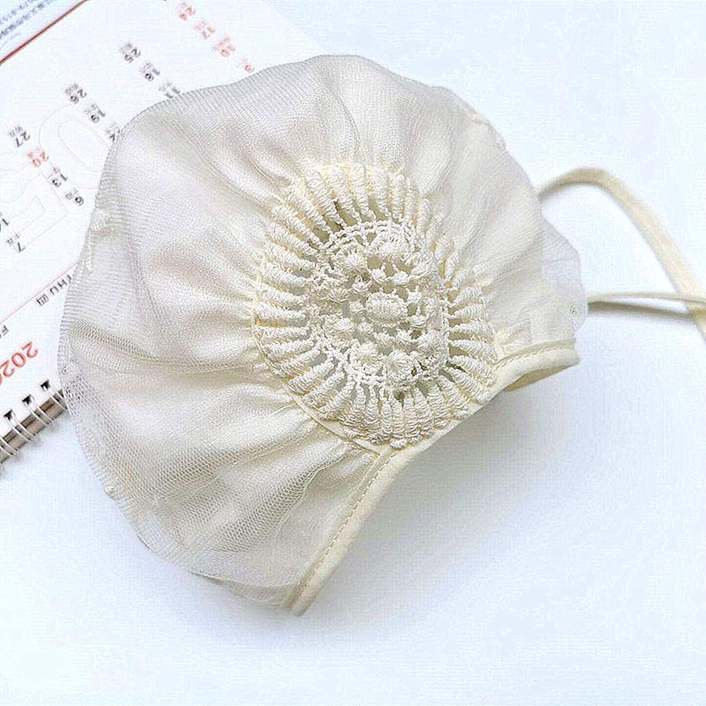 Baby Girl Toddlers Breathable Lacy Bonnet Eyelet Cotton Adjustable Sun Protection Hat