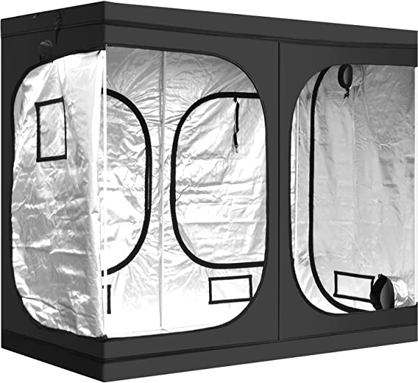 IPower 96 X48 X78 Hydroponic Water Resistant Grow Tent With Removable Floor Tray For Indoor Seedling Plant Growing 4 X8