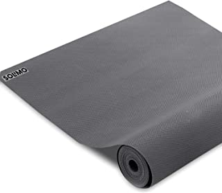 Amazon Brand - Solimo PVC Anti Slip Lining Mat for Drawer, Refrigerator, Cupboard, Shelf and Table, 500 x 45 cm, Grey