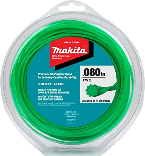"""popular Makita T-03866 Twisted Trimmer Line, 0.080"""", Green, 175', popular discount 1/2 lbs. online sale"""