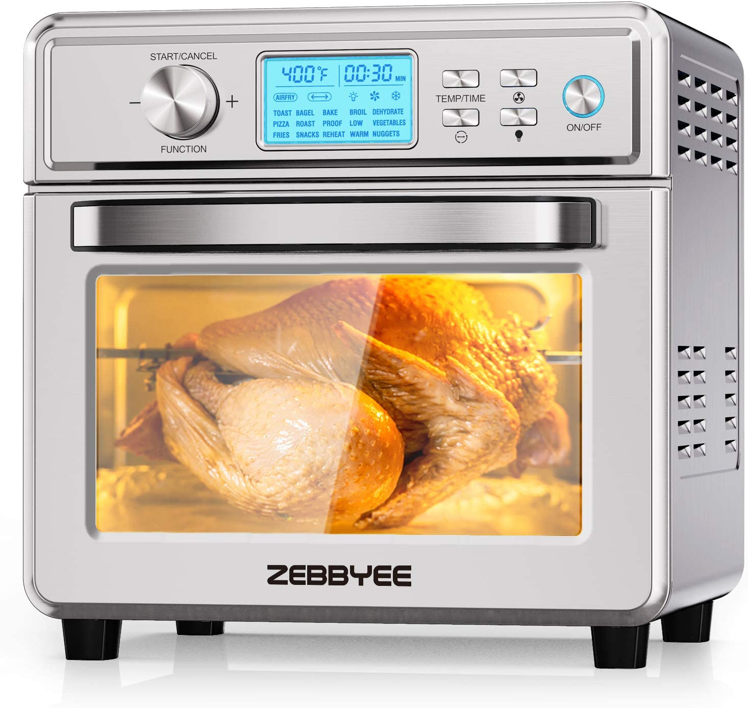 Zebbyee 22QT Free shipping on posting reviews Air Fryer Oven Brand new Convection 16-in-1 1700W Toas