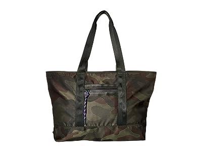Rebecca Minkoff Downtown Nylon Tote (Military Camo) Handbags