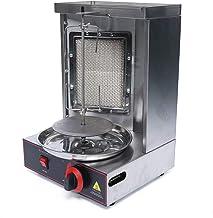 Rôtissoire Verticale Machine à Kebab Poulet Électrique Machine Grill Rotatif Électrique Machine à Kebab à Gaz pour Rôtisse...