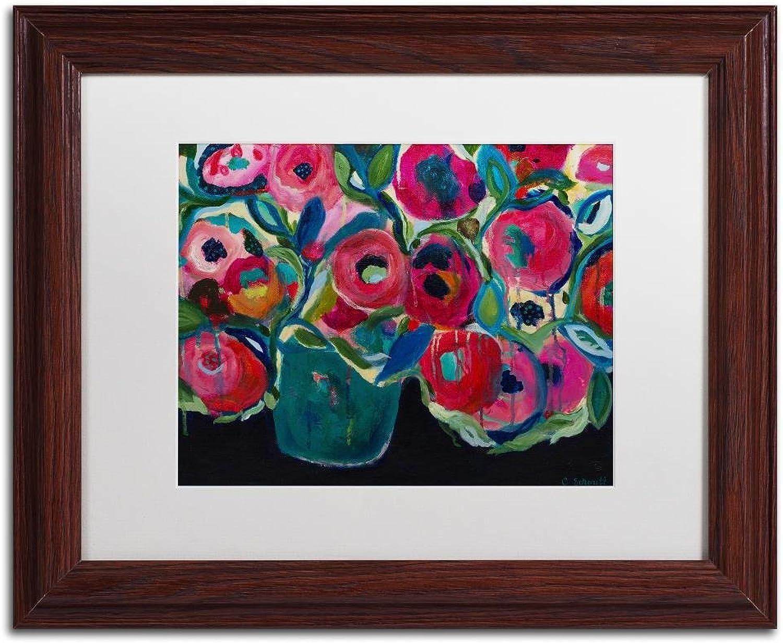 Trademark Fine Art Las Floras by Carrie Schmitt, White Matte, Wood Frame, 11  X 14
