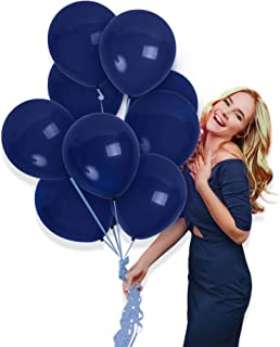 Treasures Gifted Solid Navy Blue Balloons 72 Pack for Little Peanut Boy Bear Elephant Baby Shower Decorations 10 Inch Latex Wedding Graduation Decoration Birthday Party Supplies