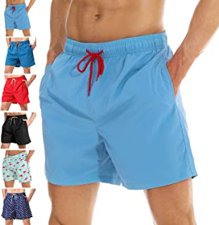 3507cd3528 anqier Mens Swim Trunks Quick Dry Beach Shorts Mesh Lining Board Shorts  Swimwear Bathing Suits with