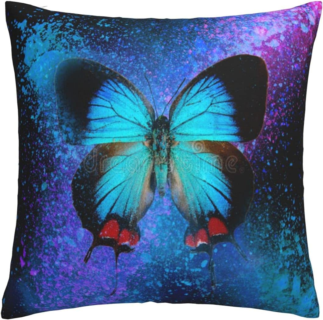 Gesdfwe Max 49% OFF Max 68% OFF Pillow Covers Butterfly 18x18 i Blue Throw