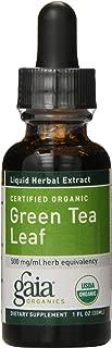 Gaia Herbs Green Tea Leaf, Liquid Supplement, 1 Ounce (Pack of 2) - Polyphenol Antioxidants, Healthy Inflammatory Response, USDA Organic