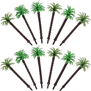 SOIMISS 12pcs Model Trees Model Coconut Palm Tree Miniature Landscape Trees Cake Topper for Plant Pots Bonsai Craft Tropic...
