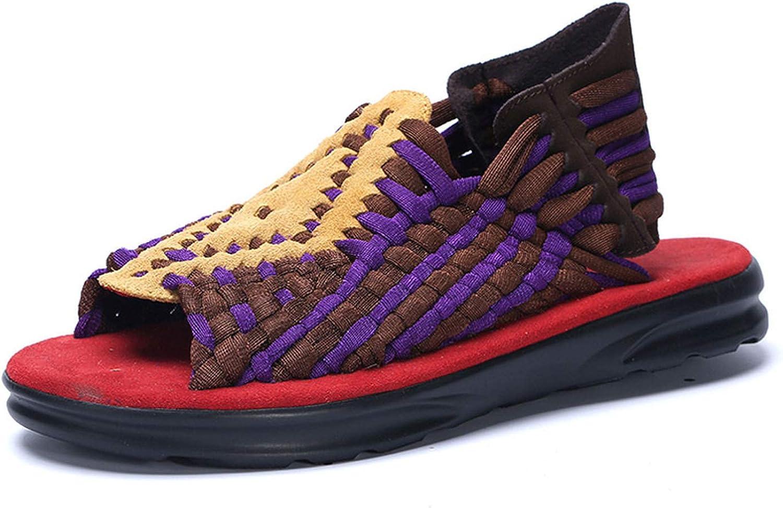 FINDDU Ny 2019 sommar Man Sandals Mode Handgjord vävning Designable Designable Designable Casual strand skor Sandals, svart,9.5  världsberömd försäljning online