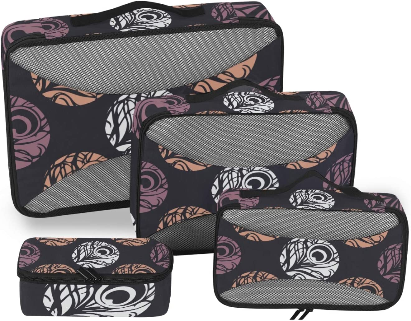 Feathers Dot Packing Cubes 4-Pcs High quality new Travel Ranking TOP19 Accessories St Organizer