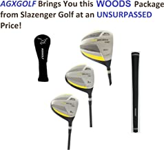 Slazenger Tour Select Ladies Edition Titanium Driver +3 & 5 Graphite Woods Set Right Hand Available in Petite, Regular, Tall Lengths: in Stock