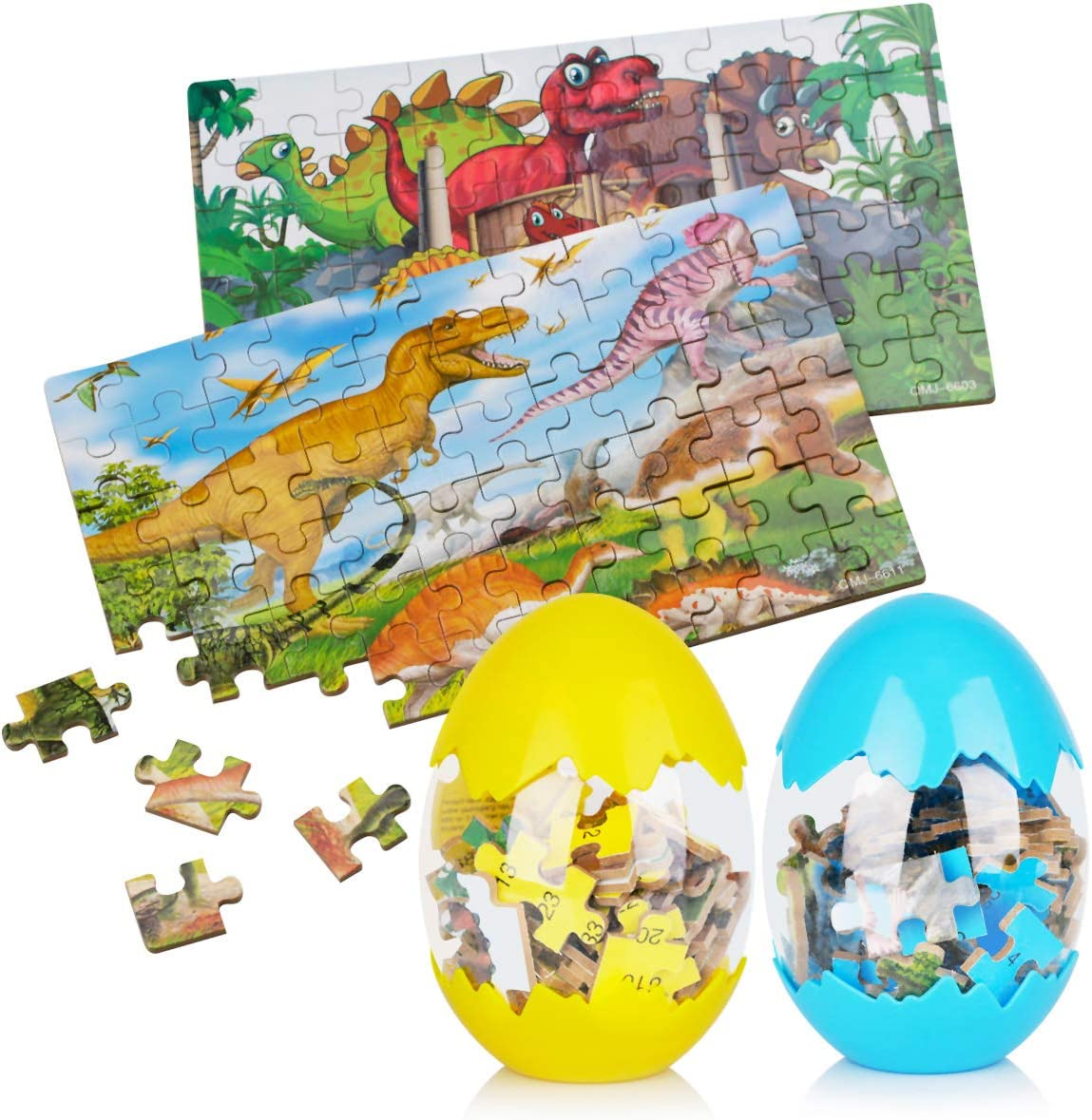 Nashville-Davidson Mall Dinosaur Puzzle 2 Pack Composite Kids Challenge the lowest price of Japan ☆ Wooden Egg for A