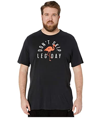 Nike Big Tall Dry T-Shirt Dri-FIT Cotton Seasonal 1 (Black) Men