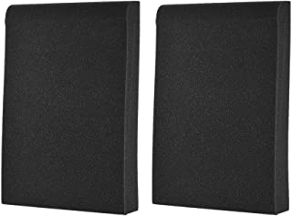 ammoon 2 Paquetes Altavoz del Monitor del Estudio Aislamiento Acoustic Foam Pads Max. 9.6