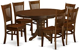East West Furniture 7 Piece Set Kenley Dinette Table With One 18