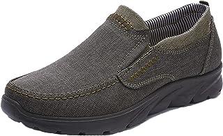 MAIAMY Chaussures décontractées pour Hommes Chaussures en Toile Basses élégantes et Confortables Chaussures Plates légères...